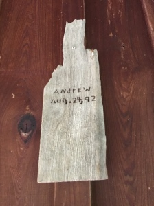 The house only lost one shingle during Hurricane Andrew in 1992. This hangs on the wall as a testament to Mrs Reno.