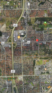 You can see the Reno parcel unchanged amounts the rampant development of Miami Dade. Google maps 2015