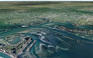 Google image 2010 showing C-44 canal to compare to 1925 aerial. (Todd Thurlow)