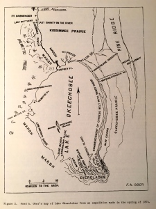 Map from Fred Ober's 1874 expedition.