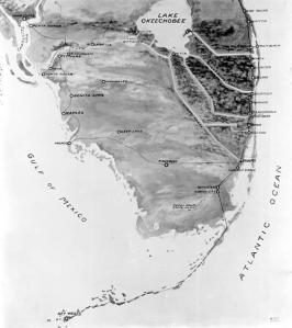 Map of Canals 1924 Florida Archives.