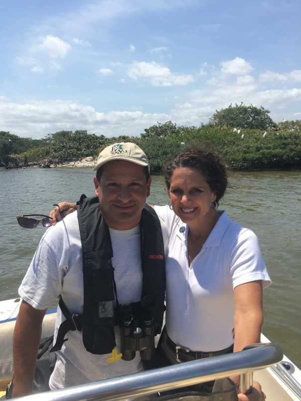 With Ricardo Zambrano who oversaw the coordination of the CWA along with MC, Sewall's Point, Sunshine Wildlife Tours.