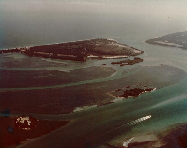 Aerial of seagrasses in 1977 in and around Sailfish and Sewall's Point.