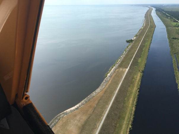 Dike around Lake Okeechobee near S-308