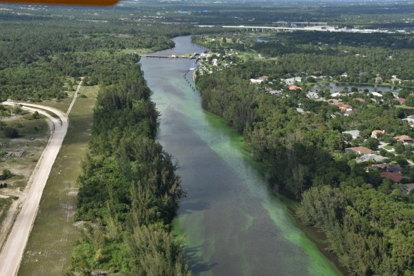C-44 at S-80 St Lucie Locks and Dam looking east. Scott Kuhns