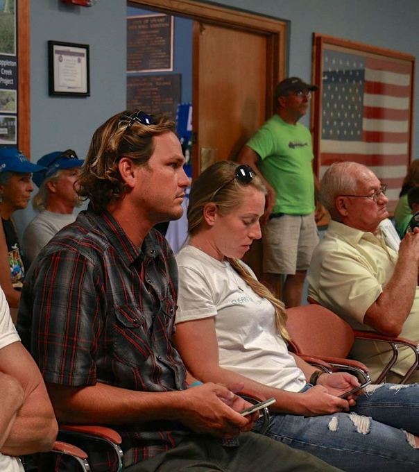 Evan Miller listens during a Rivers Coalition meeting. Evan represents Citizens for Clean Water. (Facebook)