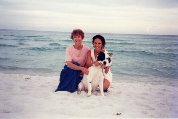 My mom, me and Dash mid 1990s