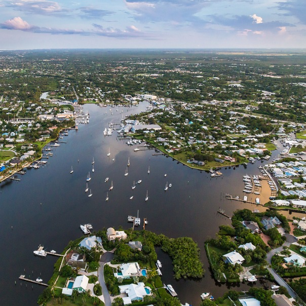 "stuart slime tour aerial downtown boats square 9001 In: John Moran's ""Florida's Summer of Slime: Stuart and Lake Okeechobee"" | Our Santa Fe River, Inc. | Protecting the Santa Fe River in North Florida"